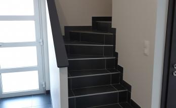 Habillage escalier carrelage à Sierentz