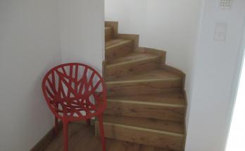 Escalier habillé de parquet à Habsheim