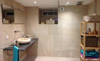 Salle de bain, pierre naturelle, Mulhouse Rebberg