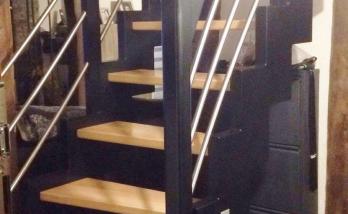 Escalier sur mesure bois métal à Hégenheim